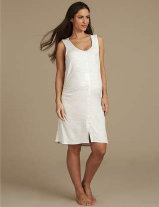Marks and Spencer Maternity Striped Nightdress