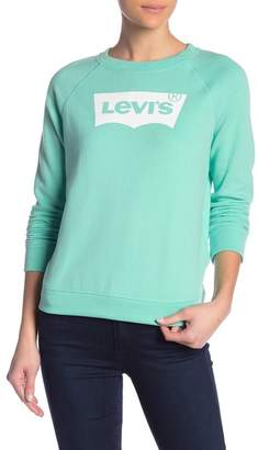 Levi's The Graphic Classic Long Sleeve Logo Crew Neck Tee