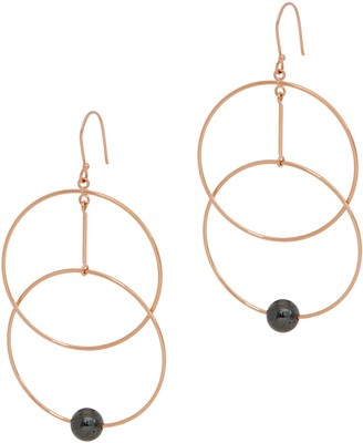 Lola Rose Kayli Gemstone Drop Hoop Earrings