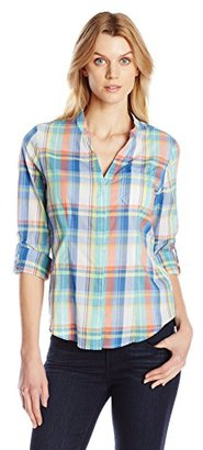 Dockers Women's Convertible Roll Tab Sleeve One Pocket Cargo Shirt $13.16 thestylecure.com