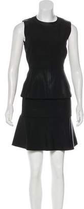 Belstaff Leather-Accented Mini Dress