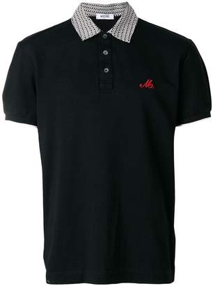 Moschino logo collar polo shirt