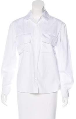 Public School Long Sleeve Button-Up Top