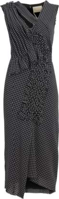 Jason Wu Wool Check Plaid V-Neck Dress