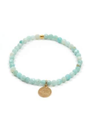 Eff.Y.Bee eff.Y.bee Mini Bliss Amazonite Beaded Elephant Charm Bracelet