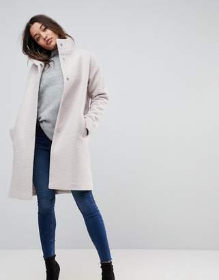 Asos Design Oversized Coat with Funnel Neck