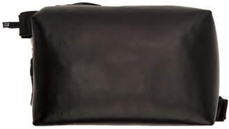 11 By Boris Bidjan Saberi Black Leather Pouch