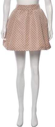 RED Valentino Polka Dot Mini Skirt