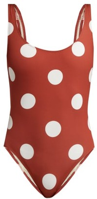 Solid & Striped The Anne Marie Polka Dot Swimsuit - Womens - Red Multi