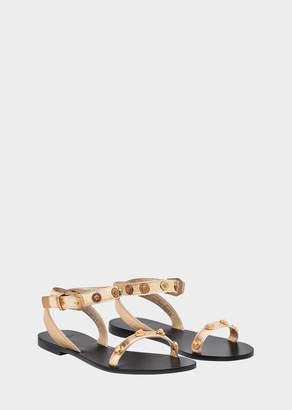 Versace Medusa Stud Tribute Leather Sandals