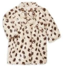 Isabel Garreton Baby Girl's Faux Fur Leopard Print Coat