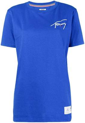 Tommy Jeans logo embroidered T-shirt