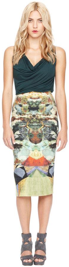 Gilded Nature Tweed Skirt