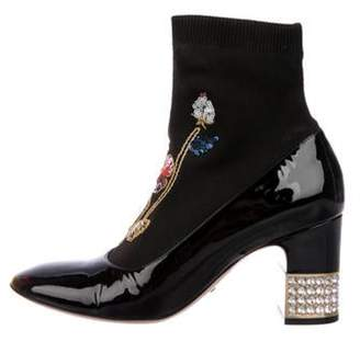 Gucci Candy Embellished Ankle Boots Black Candy Embellished Ankle Boots