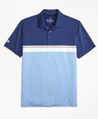 Brooks Brothers Performance Series Placed Stripe Polo Shirt