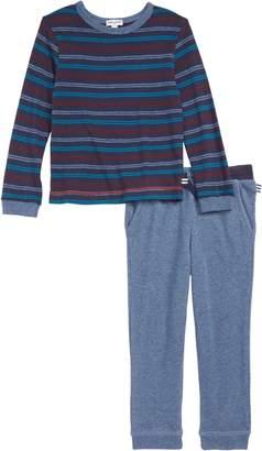 Splendid Stripe T-Shirt & Sweatpants Set