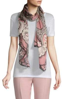 Valentino Silk Tapestry Print Scarf