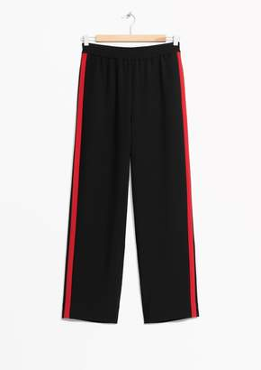 Red Panel Trousers