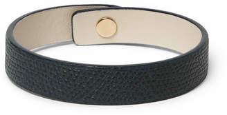 Valextra Pebble-Grain Leather Bracelet