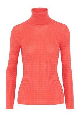 M Missoni Crochet Wool-Blend Turtleneck Sweater