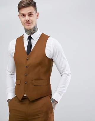 Harry Brown Slim Semi Plain Textured Waistcoat