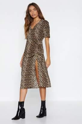 Nasty Gal Going on a Fierce Date Leopard Dress