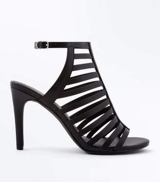 New Look Black Stiletto Heel Gladiator Sandals