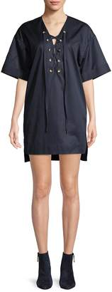 KENDALL + KYLIE Women's Lace-Up Hi-Lo Dress