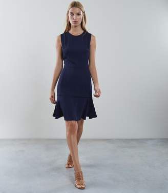 Reiss JACKIE SLEEVELESS FIT AND FLARE DRESS Navy