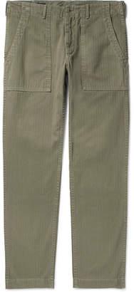 Alex Mill Slim-Fit Herringbone Cotton Trousers