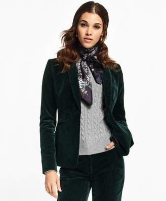 Brooks Brothers Paisley-Print Velvet Shawl-Collar Jacket