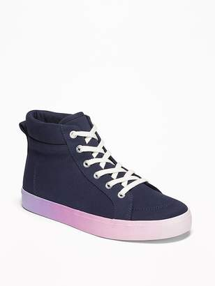 Old Navy Brushed Canvas Ombré-Midsole High-Tops for Girls