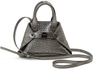 Akris Ai Micro Hammered Leather Crossbody Bag