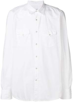 Eleventy pointed collar shirt