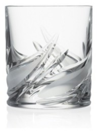 Lorren Home Trends DaVinici Cetona Collection Double Old Fashion Tumbler-Set of 2