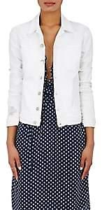 L'Agence Women's Celine Denim Trucker Jacket - Blanc