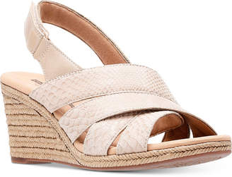 Clarks Collection Women's Lafely Krissy Wedge Sandals, Created For Macy's
