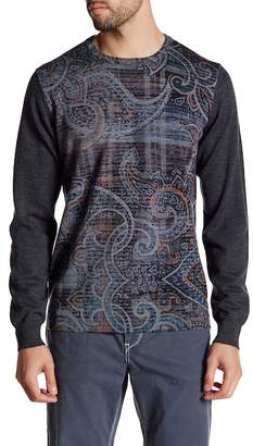 Robert Graham Langdon Print Merino Wool Classic Fit Sweater