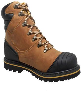 """AdTec Men 7"""" Steel Toe Work Boot Men Shoes"""