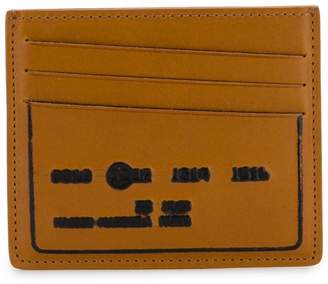 Maison Margiela burn-effect embossed cardholder