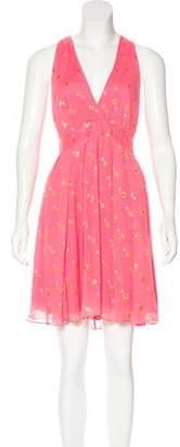 Nicole Miller Silk Metallic-Accented Dress