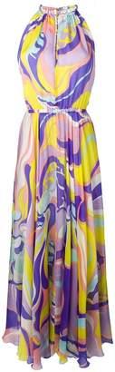 Emilio Pucci multicoloured halterneck maxi dress