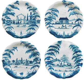 Juliska Country Estate Delft Blue Party Plates, 4-Piece Set