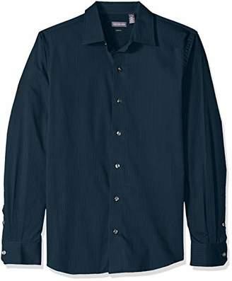 Van Heusen Men's Slim Fit Stripe Sateen Long Sleeve Button Down Shirt