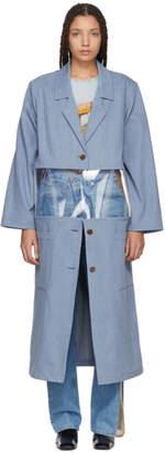 Bless Blue Denim and Vinyl Work Coat