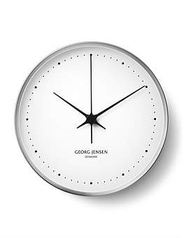 Georg Jensen Hk Wall Clock White/Ss 30Cm