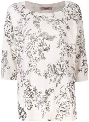 Twin-Set floral print T-shirt