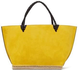 Altuzarra Espadrille Large Suede Tote Bag - Womens - Yellow