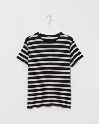 R 13 Black/Ecru Striped Boy T