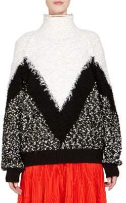 Givenchy Mohair& Wool Chevron Oversize Sweater
